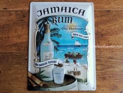 Placa metálica JAMAICA RUM - 30 x 40 cm. (Nostalgic Art)