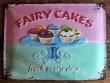 Placa metálica FAIRY CAKES - 30 x 40 cm. de la firma Nostalgic-Art