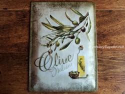 Placa metálica OLIVE - 30 x 40 cm. (Nostalgic Art)