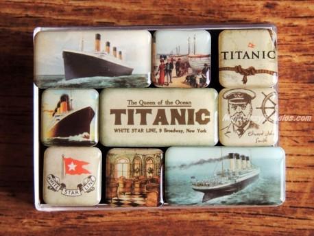 Caja de 9 imanes modelo TITANIC de Nostalgic-Art