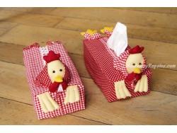 Funda para Caja de Kleenex - Modelo GALLINAS (2 colores para elegir)