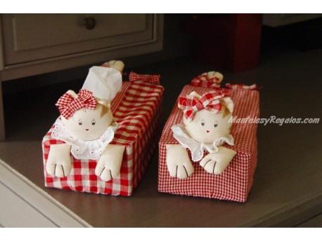 Funda para Caja de Kleenex - Modelo GATAS (2 modelos diferentes para elegir)