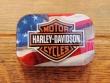 Caja metal caramelos mentolados - HARLEY DAVIDSON + BANDERA de Nostalgic Art