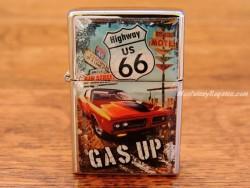 Mechero metálico - HIGHWAY US 66 GAS UP de Nostalgic-Art