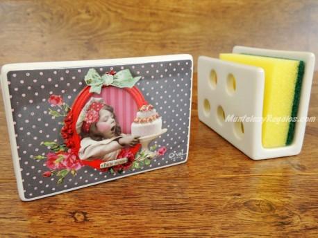 Guarda-esponjas de cerámica - Modelo PÉCHÉ MIGNON