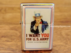Mechero metálico - I WANT YOU FOR U.S. ARMY de Nostalgic-Art