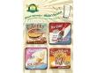 Posavasos metálicos - AMERICAN FOOD de Nostalgic-Art
