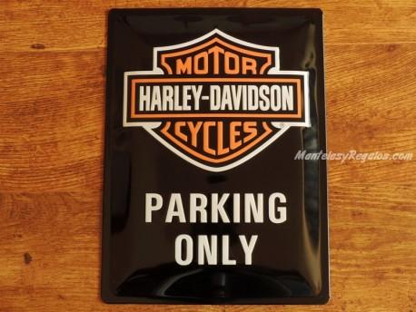 Placa metálica PARKING HARLEY-DAVIDSON - 30 x 40 cm. de Nostalgic-Art