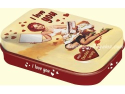 Caja metal caramelos mentolados - I LOVE YOU CHOCOLATE FACTORY de Nostalgic-Art
