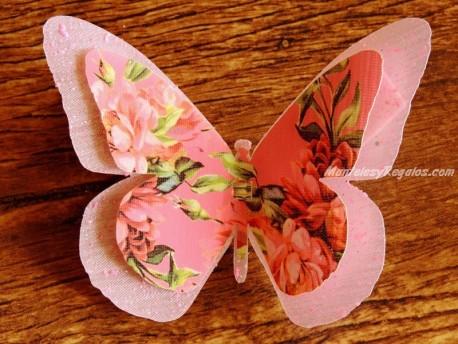 Mariposa decorativa con clip - Modelo PÉCHÉ MIGNON