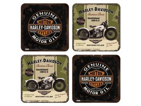 Posavasos metálicos - HARLEY DAVIDSON de Nostalgic-Art