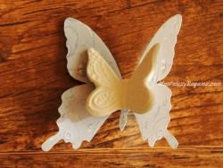 Mariposa decorativa con clip - Modelo VOLUTES de Mathilde M