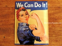 Placa metálica WE CAN DO IT - 30 x 40 cm. de Nostalgic-Art