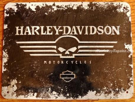 Placa metálica HARLEY-DAVIDSON MOTORCYCLES - 15 x 20 cm. de Nostalgic-Art