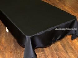 Mantel Antimanchas de Poliéster - Modelo LISO - Negro