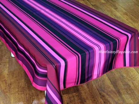 Mantel Antimanchas Poliéster - Modelo RAYAS - Rosa