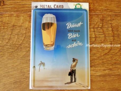 Postal metálica BIER DURST de Nostalgic-Art
