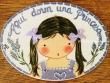 Placa para puerta niña vestido violeta (Aquí dorm una Princesa)