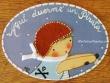 Placa para puerta niño con bicicleta (Aquí duerme un Pirata)