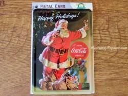 Postal metálica PAPA NOEL Y COCA-COLA de la firma Nostalgic-Art