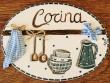 Placa para puerta cocina fondo blanco marfil (Cocina)