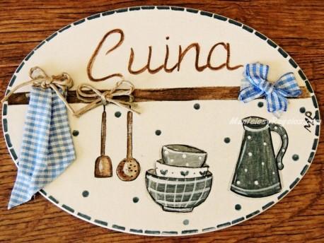 Placa para puerta cocina fondo blanco marfil (Cuina)