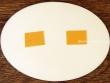 Placa para puerta cocina fondo blanco marfil (parte trasera con adhesivos)
