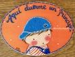 Placa para puerta niño camiseta rayas (Aquí duerme un Príncipe)