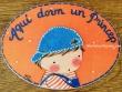 Placa para puerta niño camiseta rayas (Aquí dorm un Príncep)