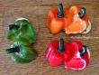 Imanes de nevera con clip - Modelo PIMIENTOS (3 colores para elegir)