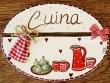 Placa para puerta cocina corazones (Cuina)