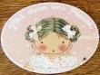 Placa para puerta niña vestido blanco topos (Aquí dorm una Princesa)