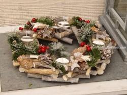 Centro de mesa navideño - Modelo Navidad - 30 cm.