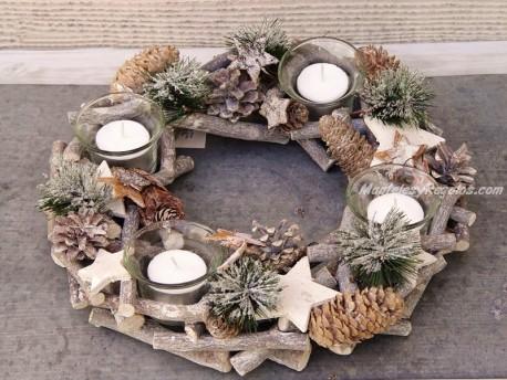 Centro de mesa navideño - Modelo Navidad nº 2 - 30 cm.