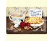 Placa metálica TARTA DE MANZANA - 20 x 30 cm. de Nostalgic-Art