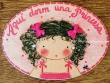 Placa para puerta niña con pelo rizado (Aquí dorm una Princesa)