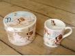 Taza decorada con caja - Modelo PERRITOS