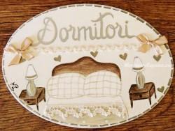 Placa para puerta dormitorio cabecero redondo (Dormitori)