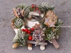 Centro de mesa navideño - Modelo Navidad - 16 cm.
