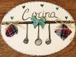 Placa para puerta cocina utensilios (Cocina)