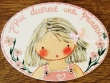 Placa para puerta niña vestido rosa con perlas (Aquí duerme una Princesa)