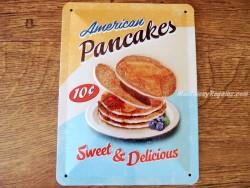 Placa metálica AMERICAN PANCAKES - 15 x 20 cm. de Nostalgic-Art