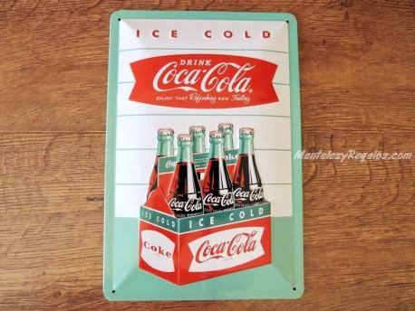 Placa metálica DRINK COCA-COLA - 20 x 30 cm. de Nostalgic-Art