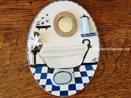 Placa para puerta bañera con espejo