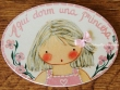 Placa para puerta niña vestido rosa con perlas (Aquí dorm una Princesa)