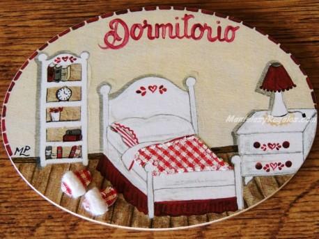 Placa para puerta dormitorio cabecero corazón (Dormitorio)