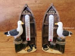 Barca y gaviota con termómetro - 12,5 cm. (2 modelos casi iguales para elegir)