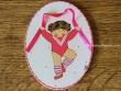 Placa infantil para puerta modelo niña baile con cinta