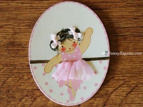 Placa infantil para puertas modelo niña ballet nº 2