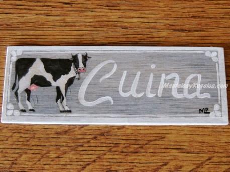 Placa para puerta cocina vaca (Cuina)